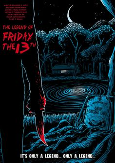 Friday the 1 by abonny on DeviantArt Horror Icons, Horror Movie Posters, Movie Poster Art, Horror Comics, Jason Voorhees Wallpaper, Friday The 13th Poster, Jason Friday, Horror Themes, Horror Artwork