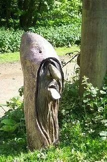 stunning carved tree art
