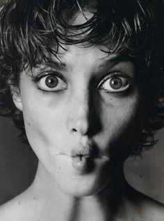 Funny face on Christy Turlington.