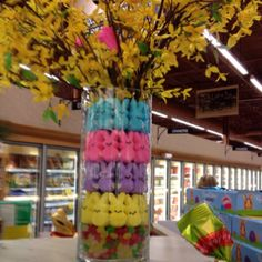 Leave it to Wegman's to create the cutest centerpiece! Bar Mitzvah Centerpieces, Special Events, Random Things, Parties, Easter, Holidays, Table Decorations, Create, Spring