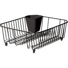 I use one of these to organize my lids to my pots & pans... I just take the silverware holder out :)