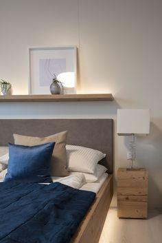 Schlafzimmer in unserem Musterhaus Trend 146 W Trends, Furniture, Home Decor, Blue Lagoon, Bed, Bedrooms, Ideas, Interior Design, Home Interior Design