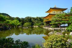 O pavilhão Dourado de Quioto.
