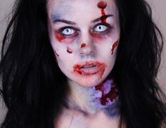 i like this zombie make up as it is simple and shows that you don't need to go all out to create a zombie look.