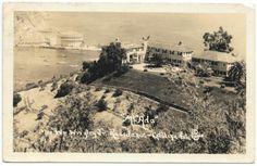 Mt. Ada, William Wrigley Jr. Home Catalina Island, CA 1937 West Coast California, Vintage California, Southern California, Avalon Catalina Island, Santa Catalina Island, California History, California Travel, Old Postcards, Long Beach