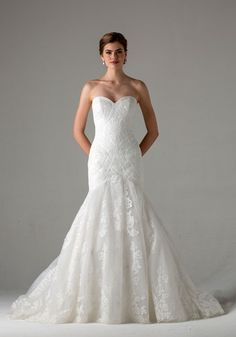 Anne Barge - Sweetheart Mermaid Gown in Lace