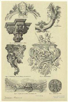 [Rococo architectural ornaments.]