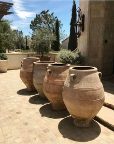 Here is a collection of our stunning antique Greek pithari. These will add a vintage touch to your home and garden design. Large Terracotta Pots, Large Pots, Pool Landscape Design, Garden Design, Rustic Outdoor, Rustic Decor, Garden Urns, Container Gardening Vegetables, Mediterranean Garden