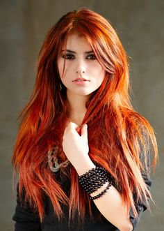 Long Red Hairstyle - Homecoming Hairstyles 2014
