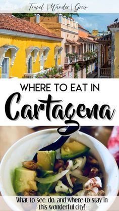 This post will provide a list of the best restaurants in Cartagena Colombia. This city has some of the best food that I have ever eaten! Get recommendations for food outside of restaurants too! Learn where to eat in Cartagena and how to eat safely too. Cartegena Colombia, Us Destinations, Colombia Travel, South America Travel, Wanderlust Travel, Foodie Travel, Central America, Wine Recipes, Traveling By Yourself