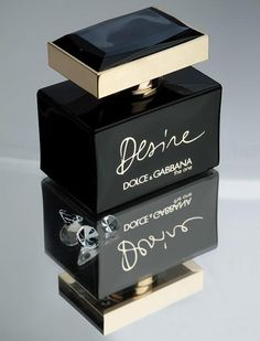 The One Desire by Dolce & Gabbana. The fragrance arrives in a black bottle with gold-colored details. The name (Desire) is also inscribed in gold and hand-written in the Sicilian Baroque style by Stefano Gabbana. The One Desire will be available as 30, 50 and 75 ml eau de parfum. The advertising campaign was photographed by Terry Richardson, and it features celebrity actress Scarlett Johansson. The One Desire fragrance will hit the shelves in January 2013.—WWD.