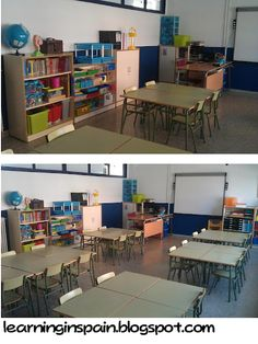 Learning in Spain: My classroom pics (before and after)  See a classroom in Spain!