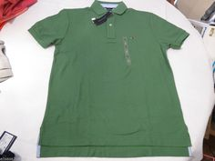 Mens Tommy Hilfiger Polo shirt XL xlarge xlg solid NEW 7848707 Fairway 297 green #TommyHilfiger #polo
