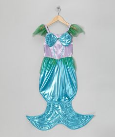 Look at this #zulilyfind! Purple & Blue Mermaid Dress-Up Outfit - Girls #zulilyfinds