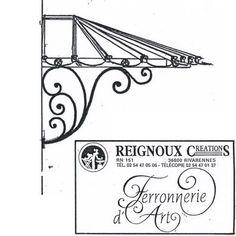 Marquise fer forgé Classique, façade arrondie MA81 | Reignoux créations