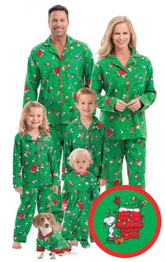 b309f9b97a Charlie Brown Christmas Matching Family Pajamas