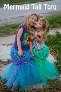 Life with Moore Babies: DIY Mermaid Tail Tutu Halloween Costume or mermaid party attire