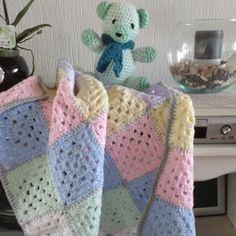 Granny Piazza coperta del bambino 60 x 80 di handmadebysonja59