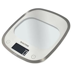 Buy Salter Curve Glass Electronic Kitchen Scale, White from our Kitchen Scales range at John Lewis & Partners. Glass Kitchen, Kitchen Dining, Electronic Kitchen Scales, Food Scale, Curved Glass, Colour Schemes, Kitchen Gadgets, Utensils, Cupboard