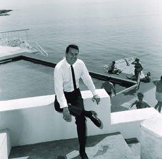Rock Hudson, Cannes, France. (1966)