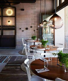 Baccafilo fitout in Sydney showcasing Parison Pendants by Resident