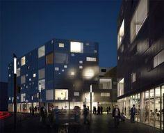 © LAN Architecture    Bègle  La rue point de départ du projet = limite public/privé