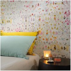 Buy Elitis Kandy Brit pop Wallpaper online with Houseology's Price Promise. Unique Wallpaper, Vinyl Wallpaper, Pretty Wallpapers, Colorful Wallpaper, Wallpaper Ceiling, Bedroom Wallpaper, Beautiful Wallpaper, Designers Guild, Houses