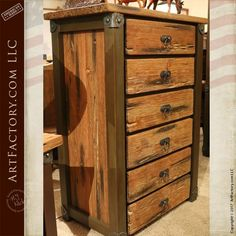 Western Style Highboy Dresser: Complete Bedroom Sets By In Any Style - century style, design, and craftsmanship, inspired by the American West Wood Bedroom Furniture, Western Furniture, Solid Wood Furniture, Custom Furniture, Antique Furniture, Furniture Ideas, Thrift Store Furniture, Recycled Furniture, Western Bedrooms