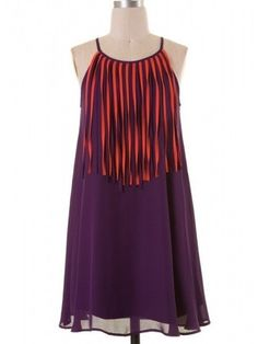 Clemson Fringe Dress | Show off your Tiger Pride in our Orange and Purple Game Day Dress! #gameday #sassyshortcake