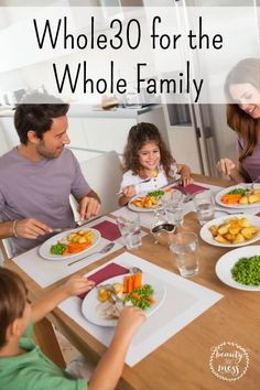Whole30 for the Whole Family - Taking on the Whole30 plan takes some planning. Taking on the Whole30 with your entire family takes lots of planning.