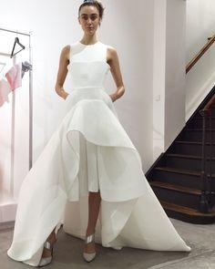 Toni Maticevski S S 16 Paris Showroom White Gowns 71576cd3e97