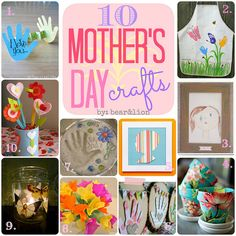 10 mothers day craft ideas! #MothersDay #crafts #kids