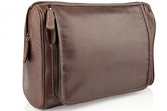 Woodland Leather Mens Wash Bag - Ideal Offers