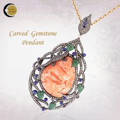 Give yourself a makeover with this Carved #GemstonePendant. Visit #GemcoDesigns for the designer collection of Carved Gemstone #Pendants. Shop in bulk.