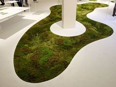 Delectable Moss Carpet Is 3D Spun Using Plant-Based Fibers. I want this! I love moss.