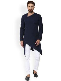 Indian Shirt Blue Cotton Kurta tunic solid Plus size loose fit Big and tall Kurta Pajama Men, Kurta Men, Boys Kurta, Indian Groom Wear, Indian Wear, Indian Men Fashion, Mens Fashion, Fashion Suits, Mens Ethnic Wear
