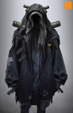 FIGHTPUNCH // the art of darren bartley - cyberpunk futuristic sci-fi costume dark mysterious