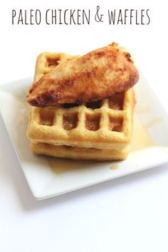 This Paleo Chicken and Waffles recipe is so fabulous! The Chicken tastes and looks just like Chic-Fil-A, but it's Paleo.