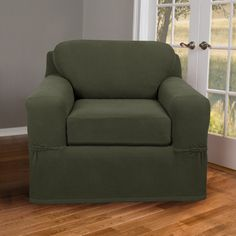 Maytex Pixel Stretch 2 Piece Chair T-Cushion Slipcover & Reviews | Wayfair