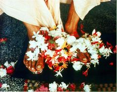 """Srila Prabhupada's Divine Lotus Feet (Album with photos) by Padmapani Das. """"The dust of the feet of a devotee, the water that has washed the feet of a devotee, and the remnants of food …"""