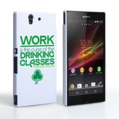 Caseflex Sony Xperia Z Wilde Drinking Classes Quote Hard Case – White and Green #OscarWilde #Quote #Green #White #Typography #Shamrock #StPatricksDay #Phone #Gift #Present #Fun #Holiday #Celebration #SonyXperiaZ #XperiaZ #Z #Sony #Xperia #Case #Cover #PhoneCase #HardCase #PhoneCover
