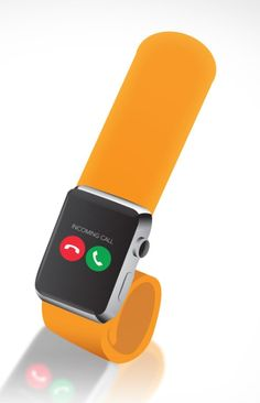 A slap band Apple Watch concept.