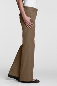Perfect for work.  Lands End Wide Leg Chino pants in French Walnut, $49.50