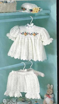 "Crochet Pattern Baby Infant Toddler ""Sugar N Spice"" Dress Hat Pantaloons | eBay"