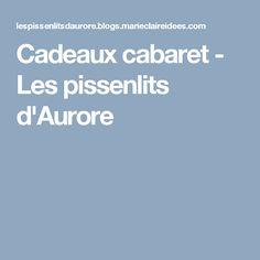 Cadeaux cabaret - boite brodée - Les pissenlits d'Aurore