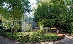 Junya Ishigami - Japanese pavilion for the Venice Biennale, 2009. The various greenhouse structures are situated among a dense garden. The minimal structures house foreign plants, and are designed in...