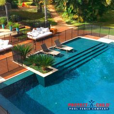 Stylish And Safe Swimming Pool Patio Now Much Safer With Our Poolfence Love