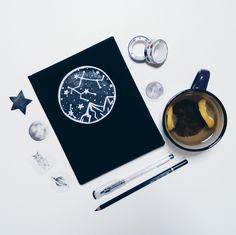 #notebook #handmade #blacknotebook #blackpages #space #blackhandmadenotebook #constellation #notebookconstellation #demiurgespark Handmade Notebook, My Notebook, Constellations, Notebooks, My Photos, Space, Etsy, Floor Space, Star Constellations