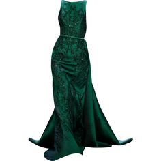 Tube Perruque ❤ liked on Polyvore featuring dresses, gowns, long dresses, vestidos, green tube dress, green gown, green evening gown and green evening dress