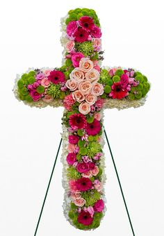 45 Beautiful Funeral Arrangements Ideas Easy To Make It 0833 Church Flowers, Funeral Flowers, Wedding Flowers, Send Flowers, Funeral Floral Arrangements, Flower Arrangements, Funeral Sprays, Corona Floral, Cemetery Decorations